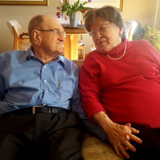 Glenn and Dolores Coates have celebrated 72 years together!
