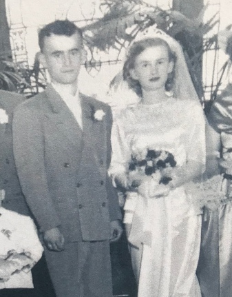 Leland and Lucille at their wedding